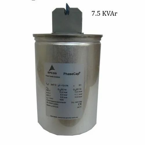 Epcos 7 5kvar Phase Cap Round Energy Heavy Duty Gas Filled Rs 1162 Piece Id 22628816591