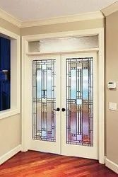 Natural Modern Designer Glass For Main Entrance, For Home, Thickness: 20 Mm