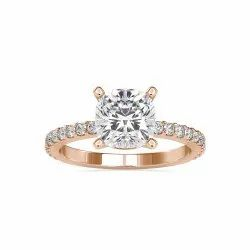 EF Cushion Cut Full White Moissanite White,Yellow,Rose Gold For Engagement