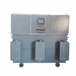 Automatic 98% Omega Oil Cooled Voltage Stabilizer, For Industrial, 480V