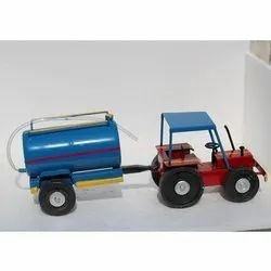 Blue And Red Large Iron Tractor Toy With Water Tank