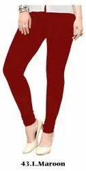Jelite Plain Cotton Lycra Churidar Leggings