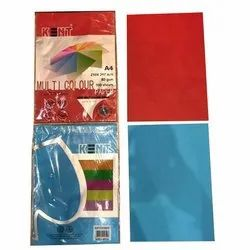 Red & Blue Color Paper Sheet, GSM: 80 GSM, Size: 210x297 Mm
