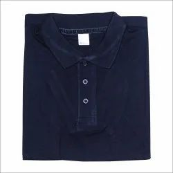 Collar Neck T-shirt, 250 GSM Plain