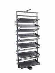 ROLLS Black Wardrobe Shoes Rack, Shoe Rack Capacity: 12 Layers, Size: W764 X -d356 X H1910mm -2110mm