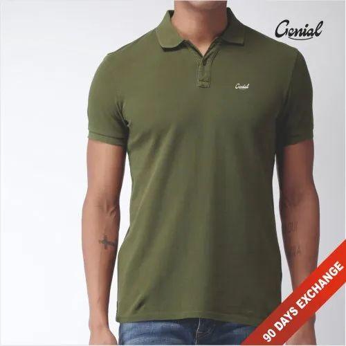 Men\'s Premium Cotton Collar T-Shirt (Pique)