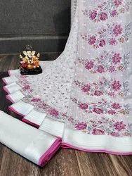 Heavy georgette indian wear saree