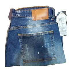 Casual Wear Button Mens Slim Fit Denim Jeans, Waist Size: 30 - 36