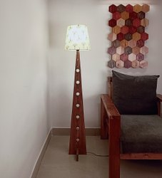 Brown Wooden Bezalel Floor Lamp