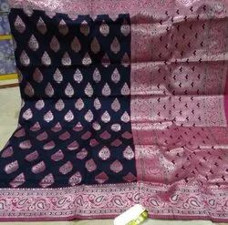 Party Wear Fancy Weaving Silk Saree, 6.3 m (with blouse piece)