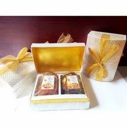Rectangular Golden 350Gm 2 Bottle Honey Gift Set, For Gifting