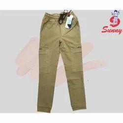 6 To 13 Yrs Cotton Boys Plain Cargo Pant