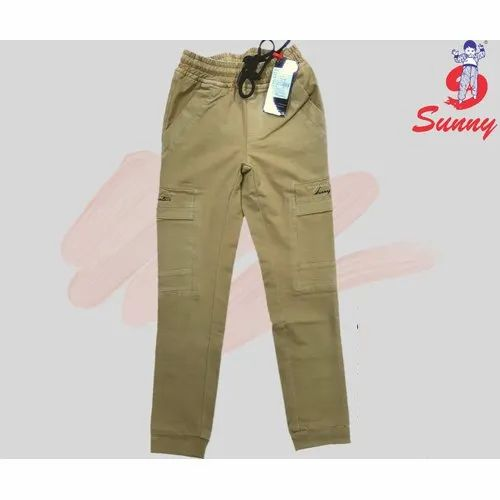 6 To 13 Yrs Cotton Boys Plain Cargo Pant