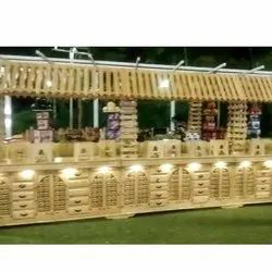 Services For Wedding Party Wooden Counter