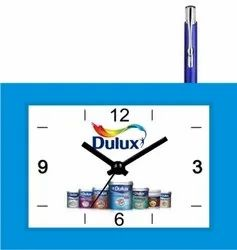 Plastic PROMOTIONAL TABLE CLOCK, For Office, Size: 5