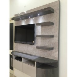 Grey Wall Mounted LCD TV Unit, For Home, Hotel