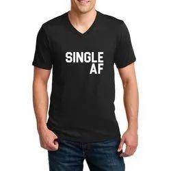 Mens V Neck Printed T Shirt