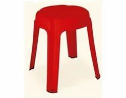 red Modern NILKAMAL ST09 STOOL, Model Name/Number: SLT09, Size: L34.00 Cmxh43 Cm