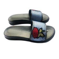 Embroidery Flip Flop Slipper, Size: 6