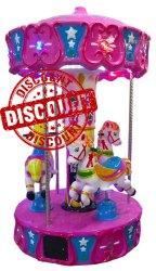 Horse Carousel Kiddie Ride - 3 Player