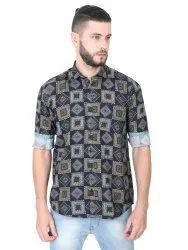 100% Cotton GGCPDF-1112 Mens Casual Shirt