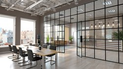 Metal Glass Partition for Office