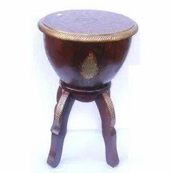 Ethnic India Round Wooden Nagara Stool Set, For Home, Size: 30 X 30 X 60 Cm