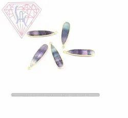 Fluorite Gemstone Connector