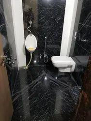Black Marble Bathroom Tiles, For Flooring