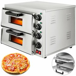 Electric Double Deck Stone Pizza Oven