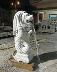 White Stone Sculpture Art