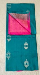 Ocean & Fuchsia Colors Silk Saree