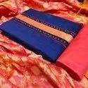 Heavy Slub Cotton Ladies Indian Wear Suit