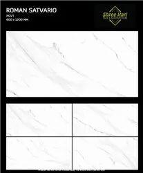 Ceramic Gloss Satvario Marble Tiles, Thickness: 9 mm, Size: Medium