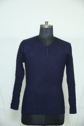 B-136 Woolen V Neck Men's Sweater