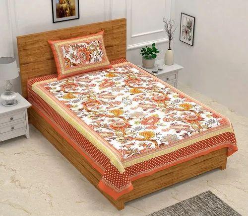 Jaipuri Printed Single Bedsheet