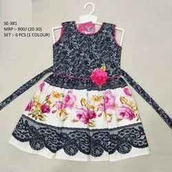 New Colorful Design  Sleeves Less Long Frock For Girls