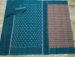 LAL10 5.5 m (separate blouse piece) Ikkat Sarees, With Blouse Piece