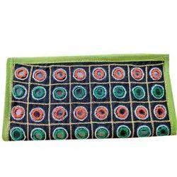 Casual Kutchi Mirror Work Ladies Clutch, Size: 5 X 10 Inches