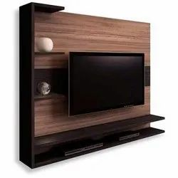 Brown Plywood And Mica Laminate Wooden LCD TV Unit