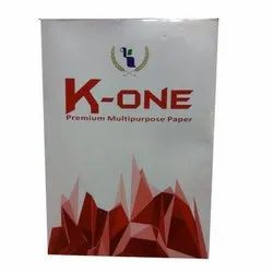 White K-One Premium Multipurpose Paper, Packaging Size: 500 Sheets per pack, Packaging Type: Packet