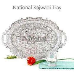 National Rajwadi Silver Oval Tray