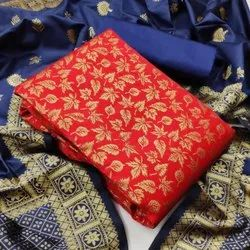 Banarasi Dress material with banarasi dupatta