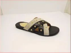 Flat Flats Ladies sandals, For Casual Wear, Size: UK6