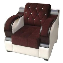 Wooden Modern Single Seat Sofa, Seating Capacity: 1 Seater