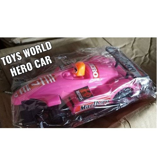 Pink Hero Plastic Toy Car, For School/Play School