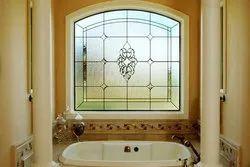 Transparent Bathroom Window Glass