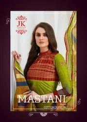 Multicolor JK Mastani Unstich Dress Material
