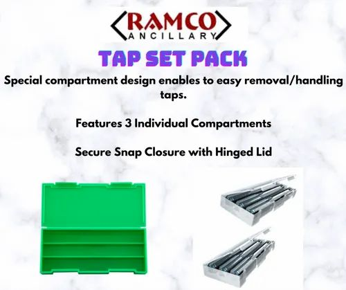 Tap Set Pack Plastic Tool Boxes With Hinged Lock