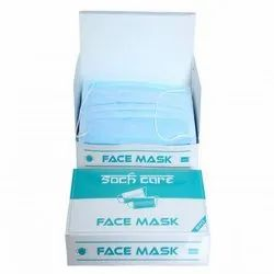 Soch Care Disposable Non Woven Face Mask, Number of Layers: 3